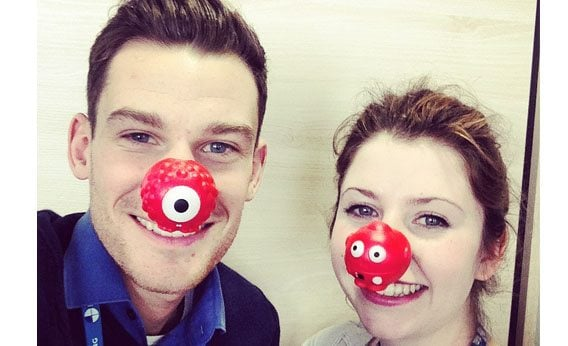 Downing Students celebrating Red Nose Day