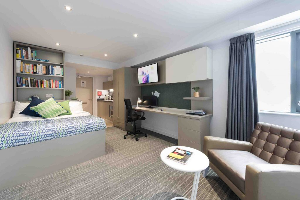 Gold Studio at The Kingfisher, Exeter student accommodation