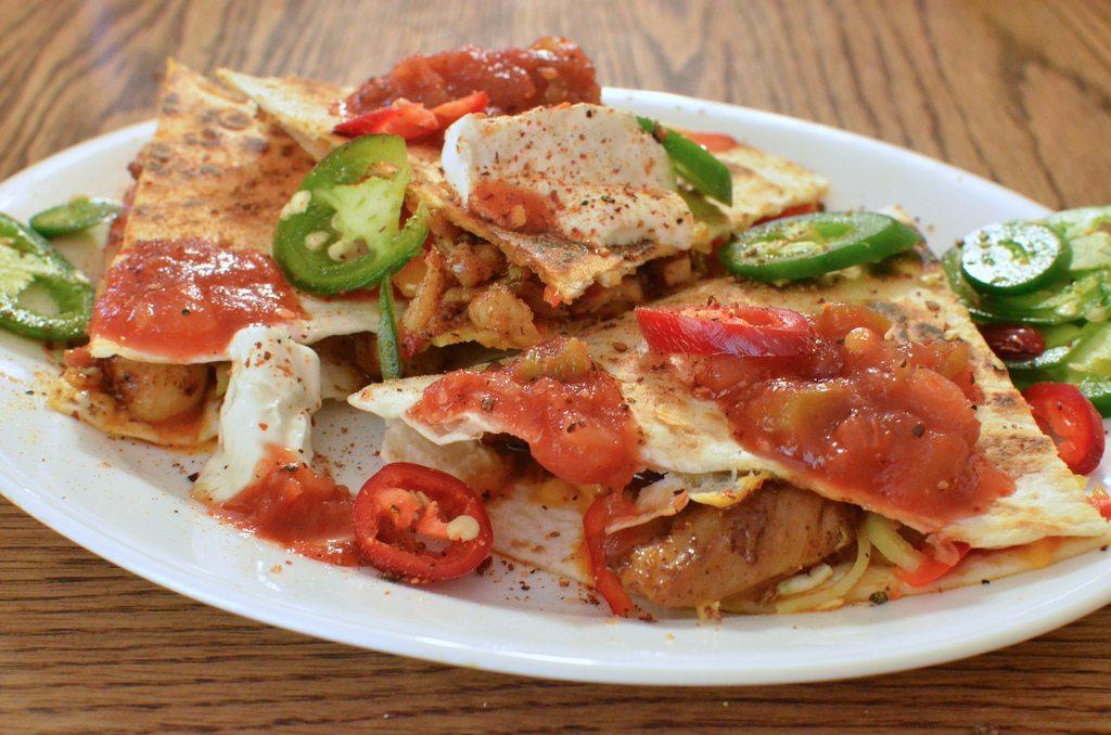 Chicken & Cheese Quesadillas