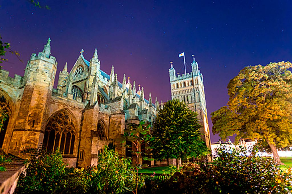 Exeter Cathedral at Night