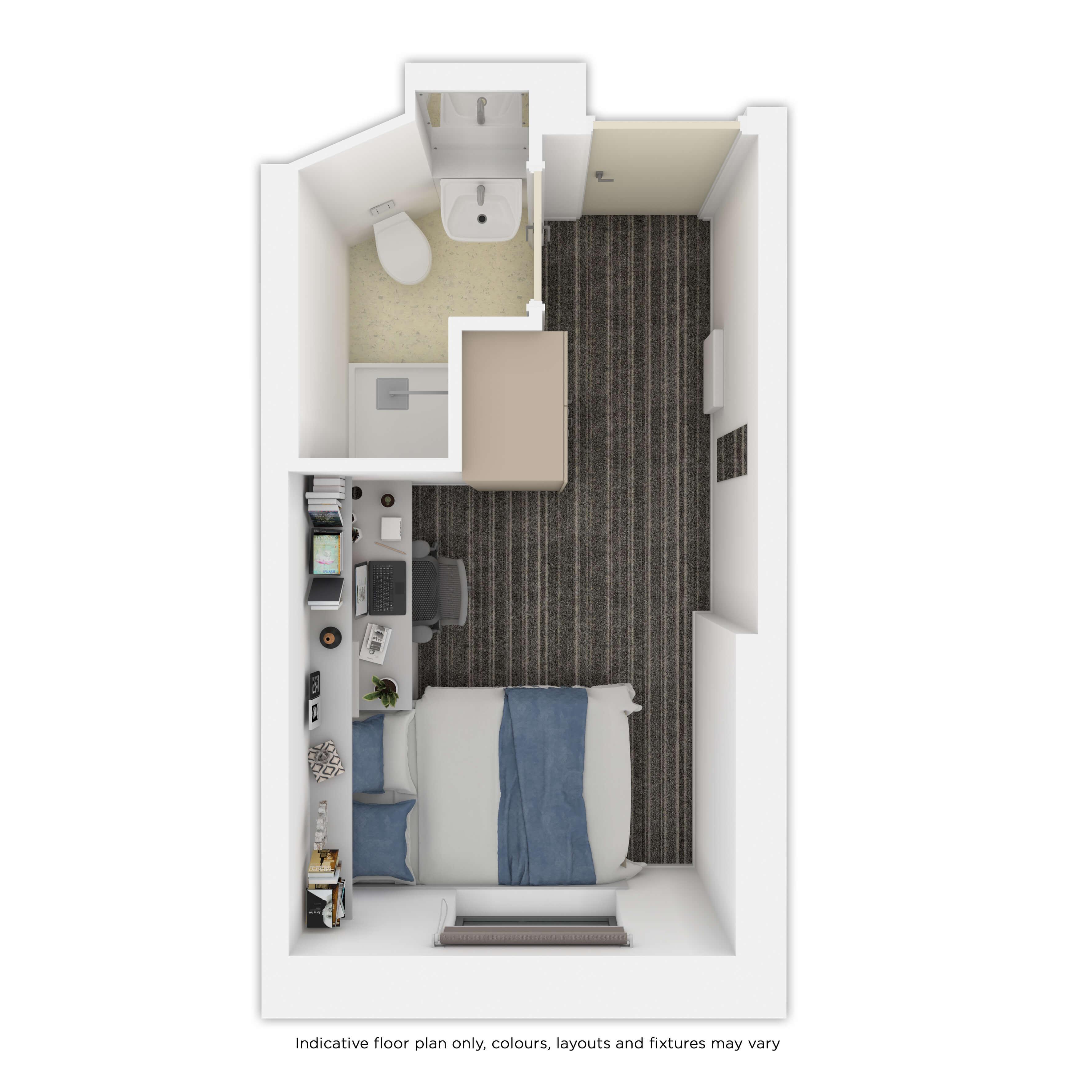 Indicative ensuite room floor plan