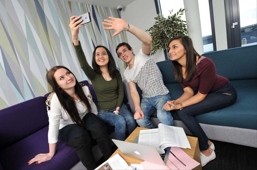 Students Enjoying Downing Students Accommodation