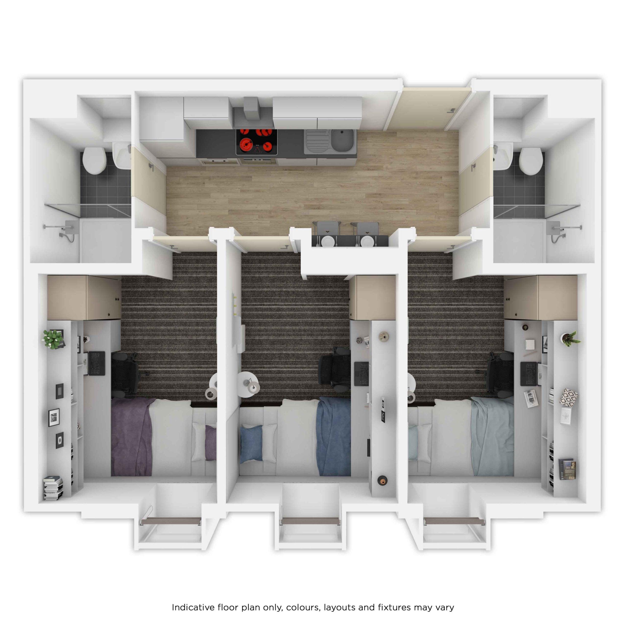 Indicative 3dio Floor Plan