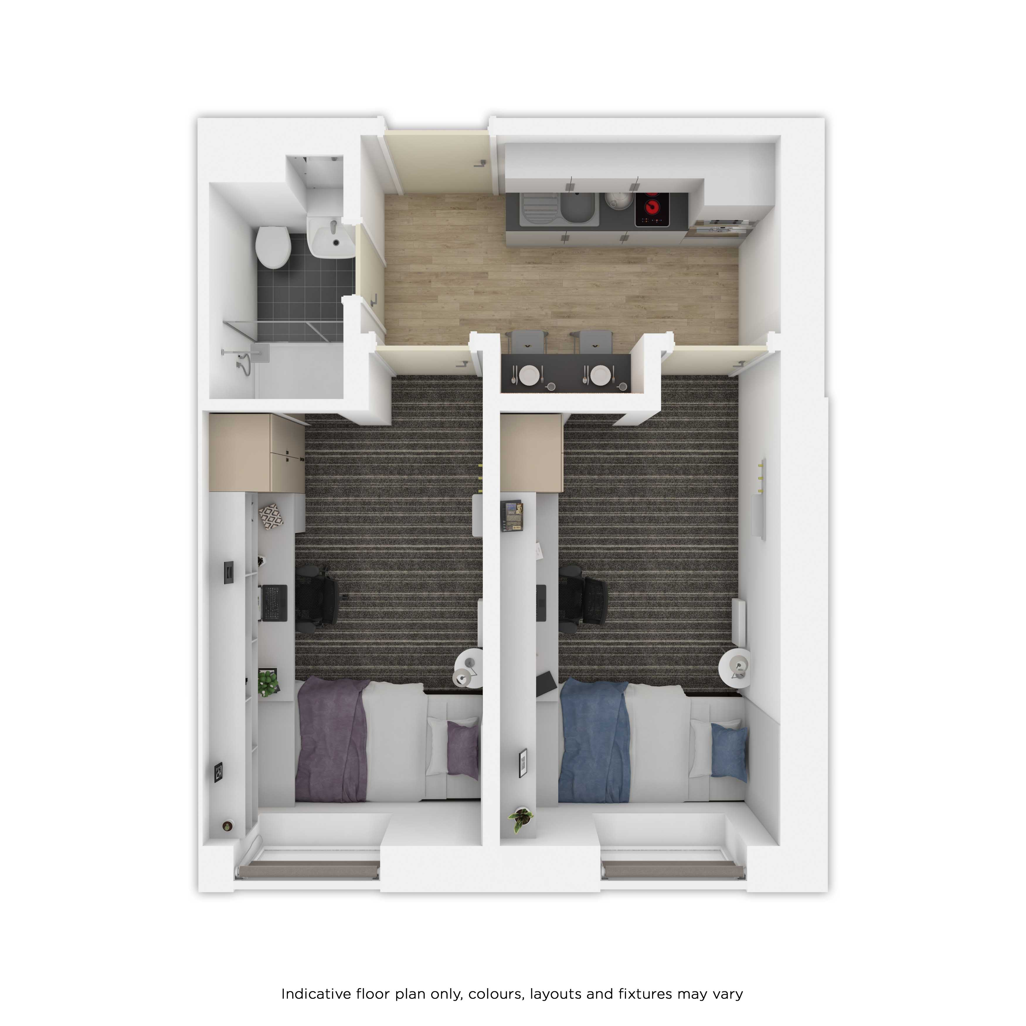 Indicative 2DIO floor plan